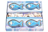 Набор свечей в стекл. подсвечниках (4 шт) Морское настроение BonaDi 328-C23