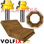 Фрези VOLFIX d12 для виготовлення бочок паз шип (тато-мама) комбінована пазо-шиповая фреза для з'єднання, фото 2