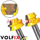 Фрези VOLFIX d12 для виготовлення бочок паз шип (тато-мама) комбінована пазо-шиповая фреза для з'єднання, фото 4