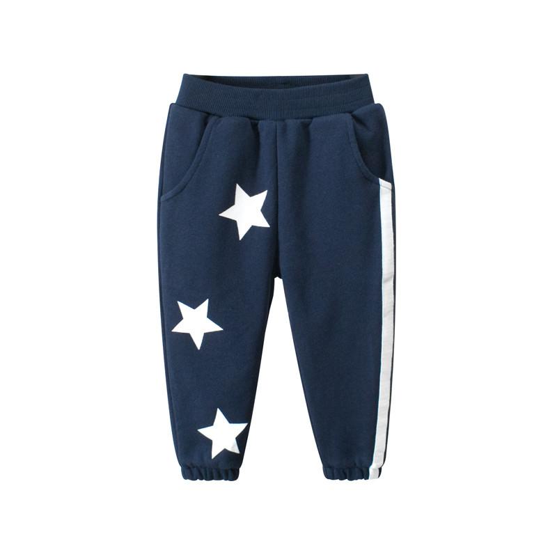 Штаны детские утеплённые Белые звёзды, синий 27 KIDS (90)