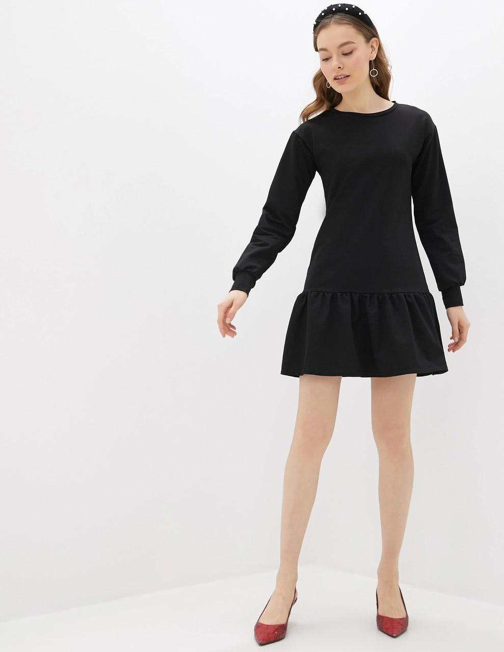 Сукня трикотажне жіноче Black Berni Fashion (S)