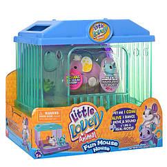 """Інтерактивна іграшка """"Мишка в будинку"""" 2613(Violet) мишка 7см, будиночок"""