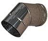 Колено 45* ф 100 одностенное из оцинкованной стали