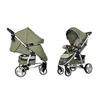 Коляска прогулочная CARRELLO Vista CRL-8505 Olive Green в льне +дождевик L