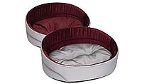 Лежак для собак и котов 62х44х22 см Lux 3 / бордо / ТМ Природа
