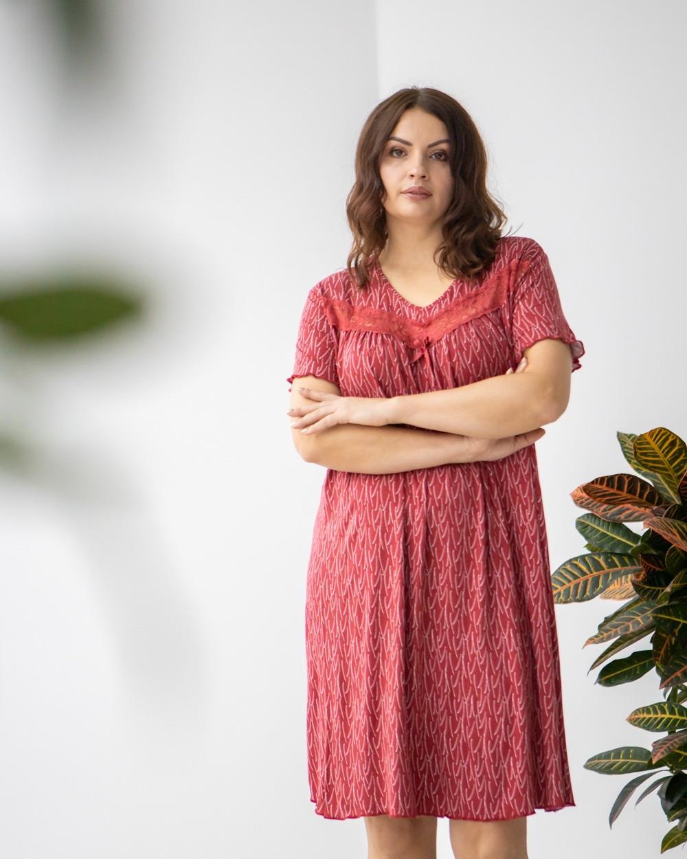 """Жіноча віскозна сорочка з коротким рукавом великих розмірів """"Джессі"""""""