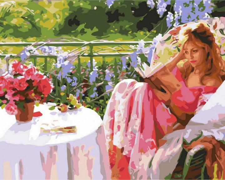 Картини за номерами 40×50 див. Дівчина з книгою (GX7195)