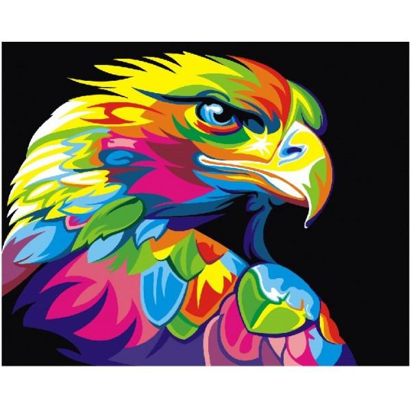 Картини за номерами 40×50 див. Райдужний орел GEX5329