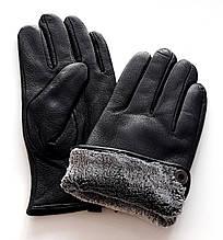 Чоловічі перчатки Ginge з оленячої шкіри, підкладка махра (11-13)
