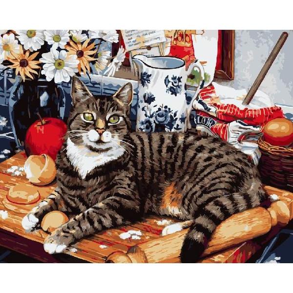 Кіт-кулінар (GX4141). Картини за номерами 40×50 див.
