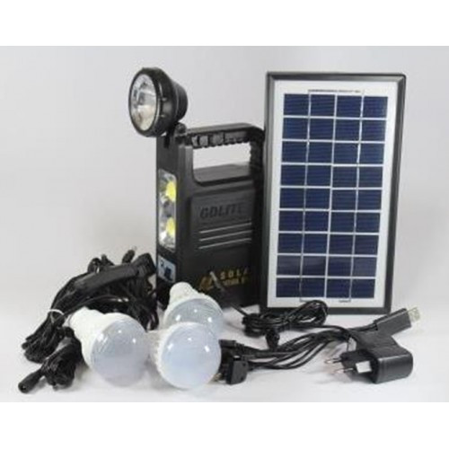Универсальный портативный фонарик аккумулятор с солнечной батареей панель GDLight GD 8033