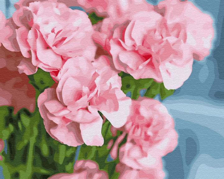 Рожева камелія (GX30095). Картини за номерами 40×50 див.