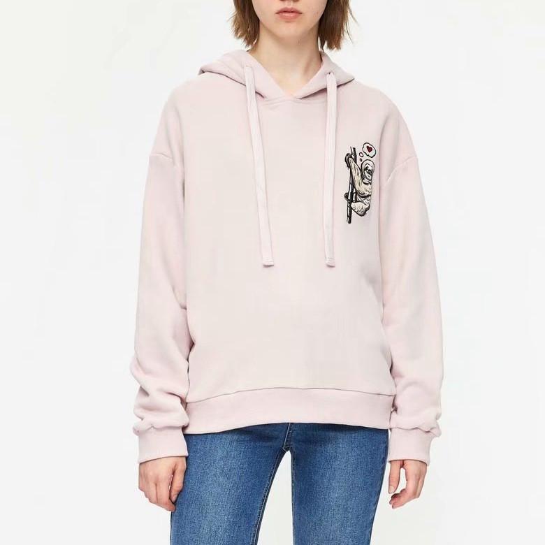 Худи женское oversize с капюшоном и вышивкой Sloth Berni Fashion (S)