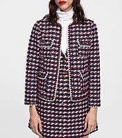 Жакет женский твидовый с декоративной отделкой Composition Berni Fashion (S)