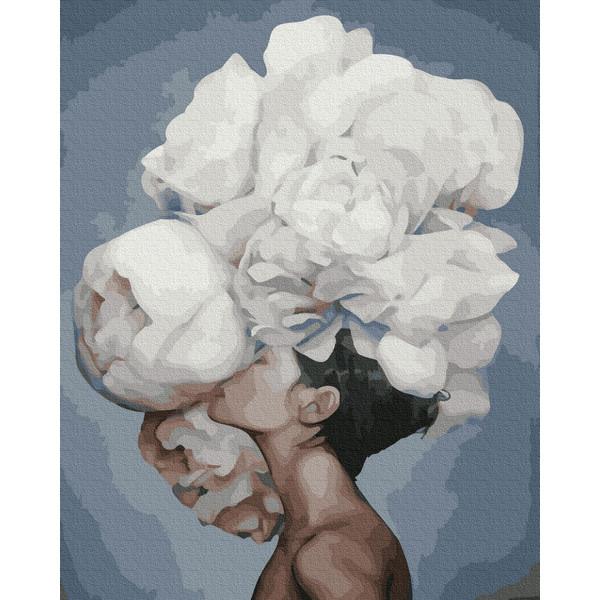 Жінка з піонами (GX35256) Картини за номерами 40×50 див.