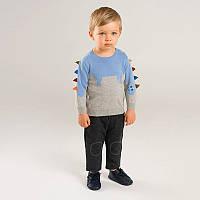Джемпер для мальчика Голубой динозавр 27 KIDS (90)