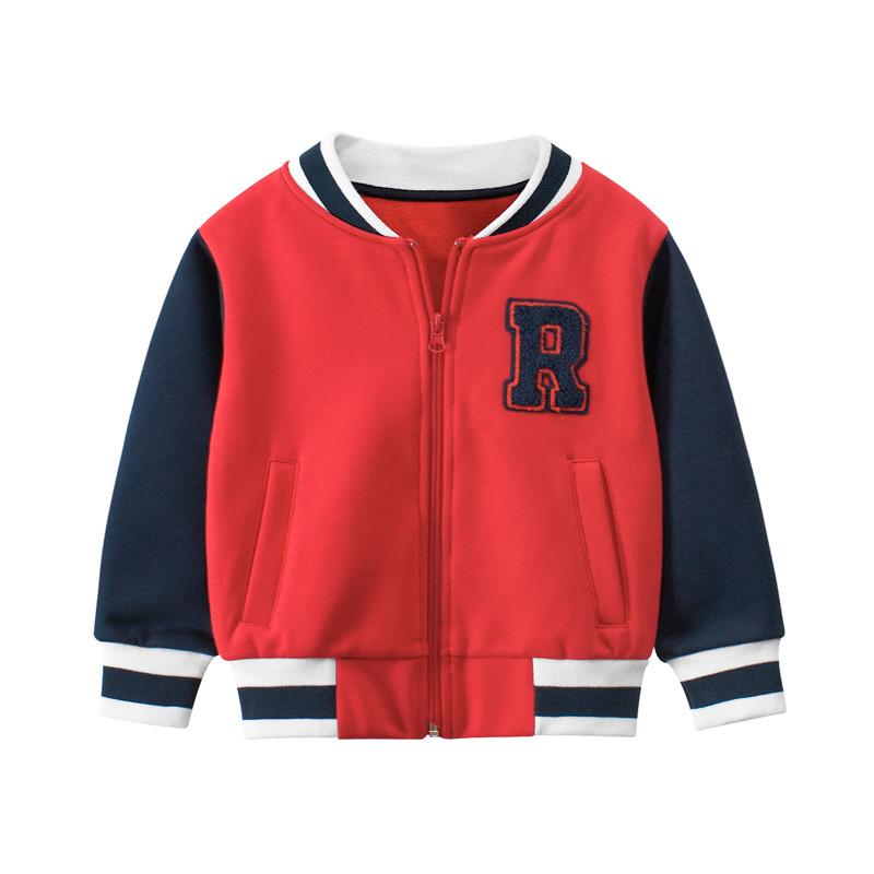 Кофта утепленная для мальчика Американский футбол, красный 27 KIDS (90)
