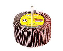 Круг шлифовальный лепестковый зерно 80, 80*40 мм со стержнем 6 мм MASTERTOOL 08-2298
