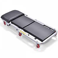 Підкатний лежак автослюсаря 2в1 Siker для ремонту автомобіля (Лежак підкатний автослюсара 2в1 для авторемонту, фото 1