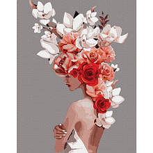 Цветочная тиара (PGX36695)Картина по номерам на цветном холсте 40×50 см.