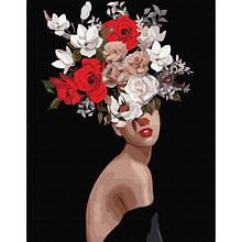 Мысли в цветах (PGX36693)Картина по номерам на цветном холсте 40×50 см.
