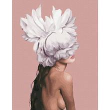 Она - цветок (PGX36698)Картина по номерам на цветном холсте 40×50 см.