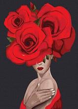 Королева роз (PGX36694)Картина по номерам на цветном холсте 40×50 см.