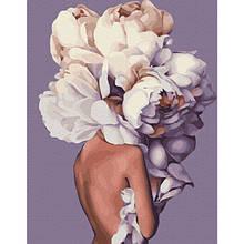 Женственные пионы (PGX36697)Картина по номерам на цветном холсте 40×50 см.