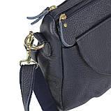 Женская кожаная сумка синяя Riche NM20-W1195BL, фото 5