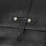 Женская кожаная сумочка кроссбоди черная Riche NM20-W645A, фото 3