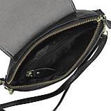 Женская кожаная сумочка кроссбоди черная Riche NM20-W645A, фото 4