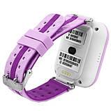 Детские умные часы-телефон с GPS трекером Smart Watch Q100 Сиреневые, фото 5