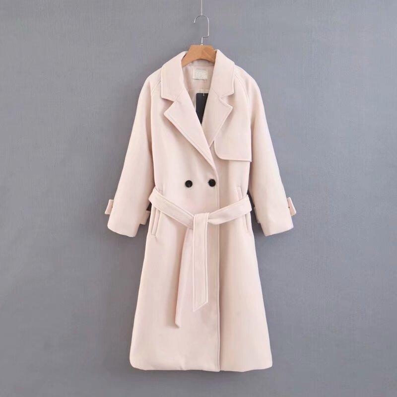 Пальто жіноче довге з поясом Elegant Berni Fashion One Size)