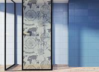 """Декоративная матовая пленка на окна и перегородки """"Карта мира"""" Zatarga от соседей, разделитель пространства"""