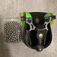 Набор рогатка с лазерным прицелом и уровнем 400м для спорта, охоты, рыбалки + шарики + чехол + резинка