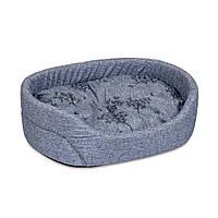 Лежак для собак и котов 43х34х13 см / OMEGA №1 серый джинс / ТМ Природа