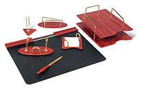 Набір настільний канцелярський дерев'яний 7 предметів Good Sanrise 7S-1A, 375156