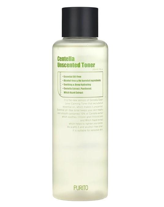 Тонер для чувствительной кожи Purito Centella Unscented Toner 200 мл