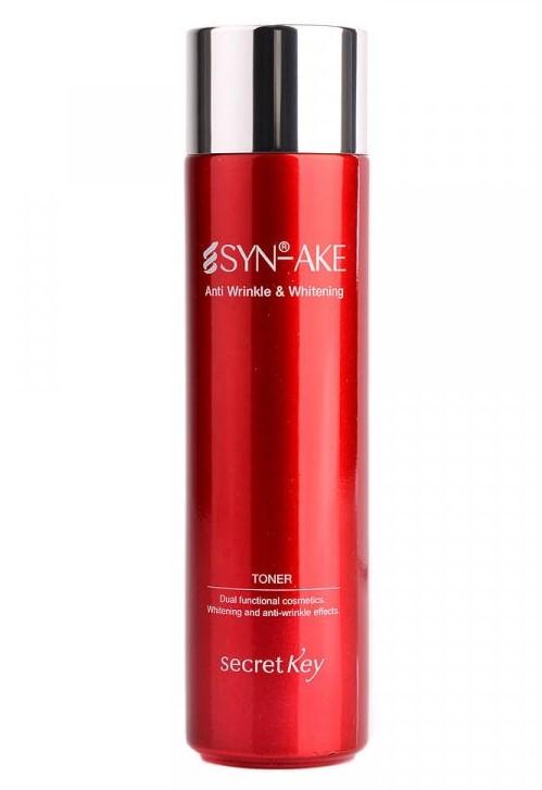 Тонер для догляду за шкірою вікової Secret Key SYN-AKE Anti Wrinkle & Whitening Toner 150 мл