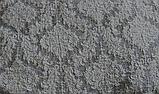 Натяжные чехлы на угловой диван и кресло турецкие Серый жаккардовый с оборкой Разные цвета, фото 4