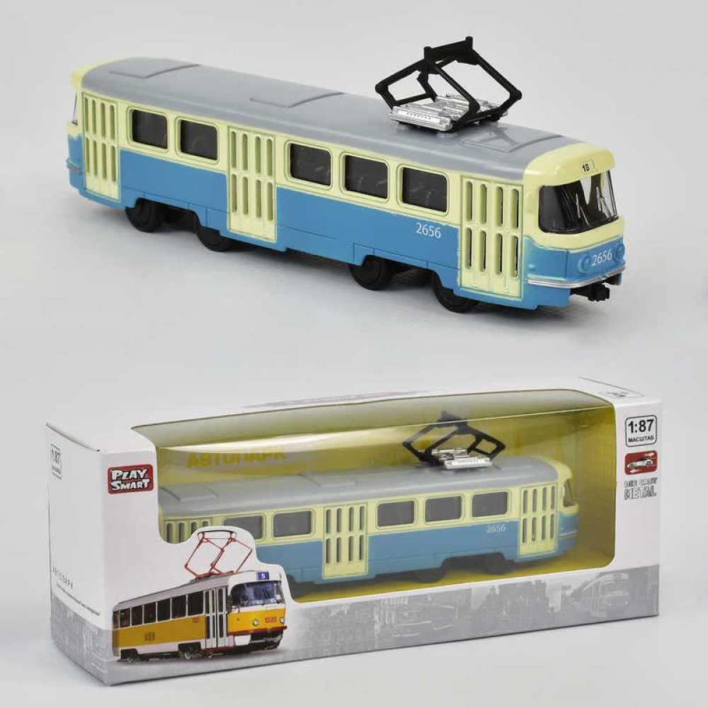 JT Трамвай металлопластик 6411 С (96/4) инерция, в коробке [Коробка]