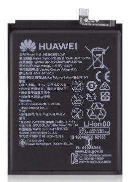 Аккумулятор (Батарея) для Honor 10 Lite HRY-LX2 HB396286ECW (3400 mAh) Оригинал, фото 2