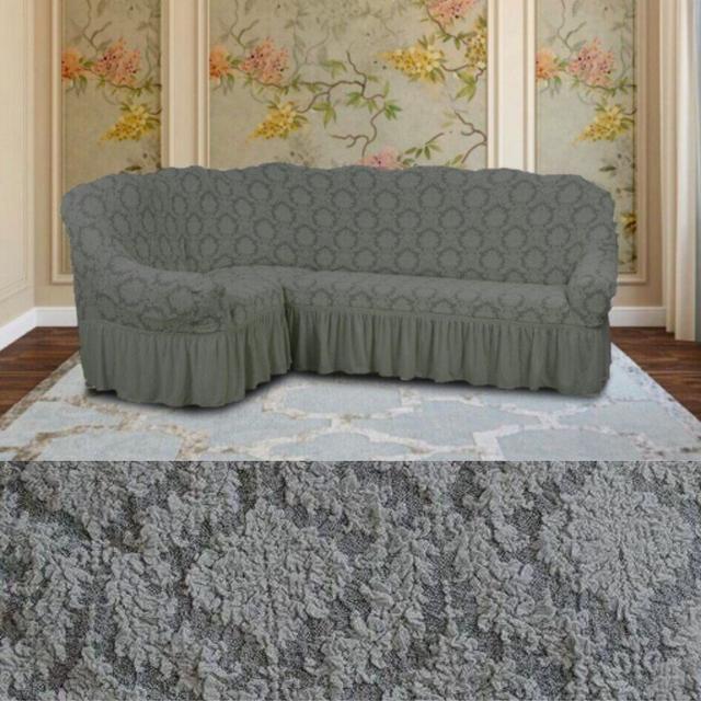 чехлы на угловые диваны с юбкой