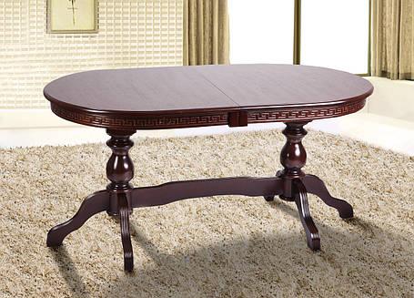 Стол обеденный Оскар Люкс орех темный (Микс-Мебель ТМ), фото 2