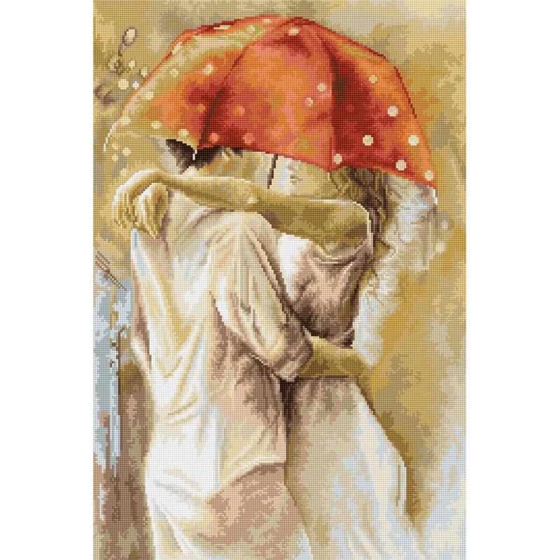 Набори для вишивання хрестом Luca S Під парасолькою