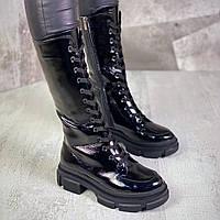 Жіночі демісезонні чоботи на підборах 36-40 р червоний