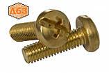 Гвинт DIN 7985 М6 латунь, фото 2