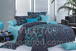 9844 Двуспальное постельное белье ранфорс Viluta