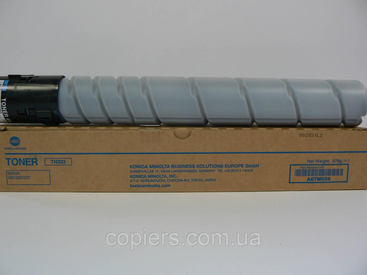 TN323 тонер картридж Konica Minolta Bizhub 227/287/367, оригинал, A87M050, tn-323