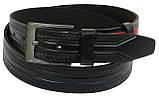 Кожаный ремень Skipper 110-130 x 3.8 см Черный (1004-38), фото 2